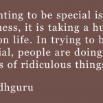 Wanting to be Special