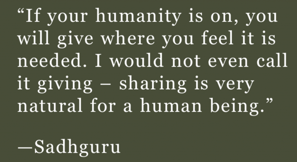 Sharing with Humanity