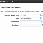 Create Custom Parameter Group